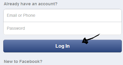 facebook mobile sign in step 3
