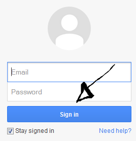 gmail login step 3