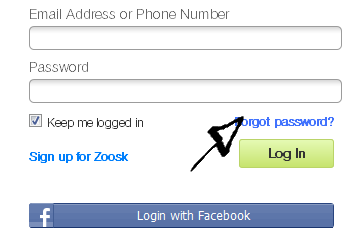 zoosk password recovery