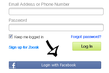 zoosk sign in with facebook