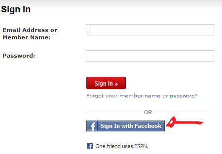 espn fantasy football login facebook