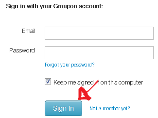 groupon sign in step 4