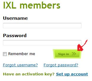 ixl login step 3