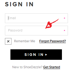 shoedazzle sign in step 3