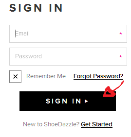 shoedazzle sign in step 4
