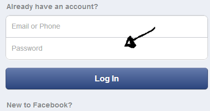facebook mobile sign in step 2