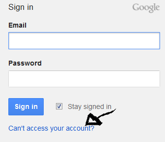 google analytics recover password