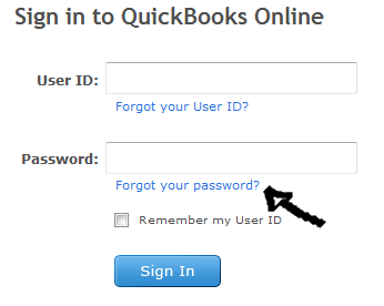 quickbooks online password recovery