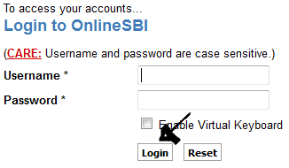 sbi sign in step 3