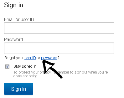 ebay user id password recovery