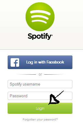 spotify web player sign in step 3