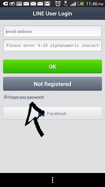 line app password recovery