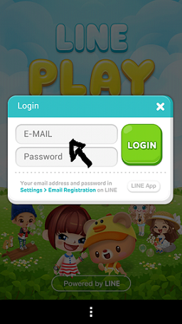 line play sign in step 2