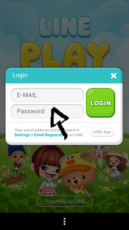 line play sign in step 3
