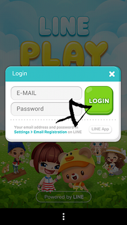 line play sign in step 4