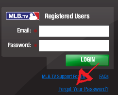 mlb tv password recovery instructions