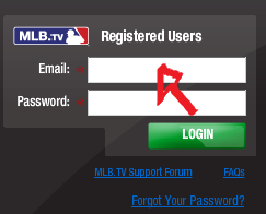 mlb tv sign in page step 1