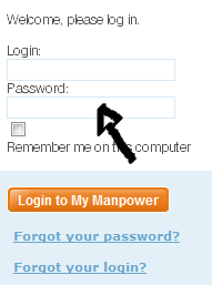 manpower sign in page step 2