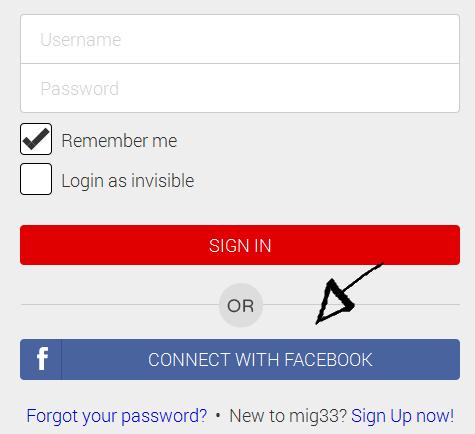 mig33 sign in facebook