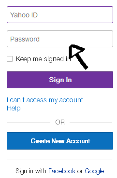 yahoo screen sign in page step 2