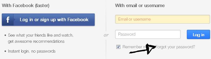 ustream password recovery