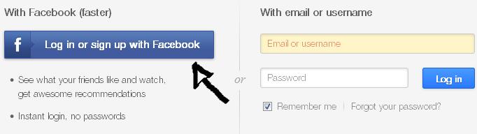ustream sign in facebook