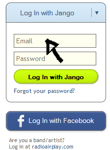 jango sign in enter email