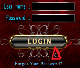 immortal night vampire games password recovery