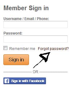 millionairematch.com password reset